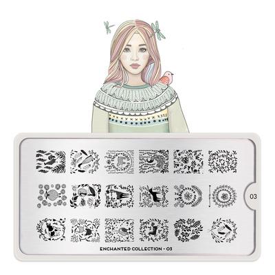 Stamping Nail Art image Plate MOYOU Enchanted 03