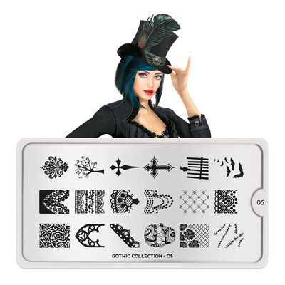 Stamping Nail Art Image Plate MOYOU Gothic 05