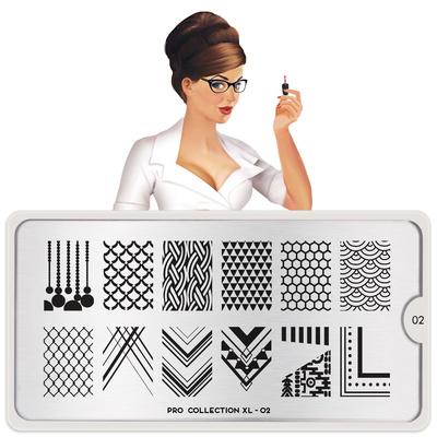 Stamping Nail Art Image Plate MOYOU Pro XL 02