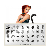 Stamping Nail Art Image Plate MOYOU Kitty 04