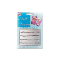 Dekorativni lančići za Nail Art NADE04 Srebrno/Pink 4/1