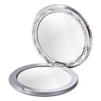 Mini Compact Mirror CALA 70517 Silver