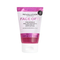 Glitter Peel-off Face Mask with Revitalising Papaya Extract REVOLUTION SKINCARE Pink Sparkle 50ml