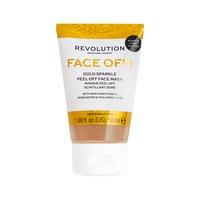 Gliter Peel-Off maska za hidrataciju kože lica REVOLUTION SKINCARE Gold Sparkle 50ml
