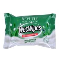 Wet Wipes with Alcohol REVUELE Tea Tree 20/1
