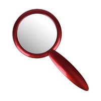 Ogledalce sa drškom CALA Metalik crveno 70541