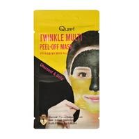 Peel-off maska za čišćenje i elasatičnost kože lica QURET Charcoal & Gold 2x6g