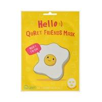 Korejska sheet maska za revitalizaciju i blistavost kože lica QURET Hello Egg 25g