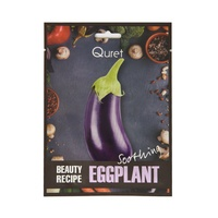 Korean Facial Mask Calming and Smooth Skin Texture QURET Beauty Recipe Eggplant 25g