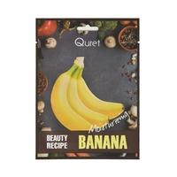 Korean Sheet Moisturizing Mask QURET Beauty Recipe Banana 25g