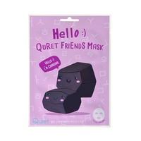 Korejska sheet maska za čišćenje kože lica QURET Hello Aktivni ugalj 25g
