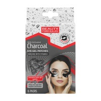 Eye Gel Patches BEAUTY FORMULAS Activated Charcoal 6pcs
