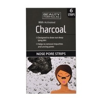 Nose Pore Strips BEAUTY FORMULAS Activated Charcoal 6pcs