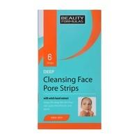 Cleansing Face Pore Strips BEAUTY FORMULAS Witch Hazel 6pcs
