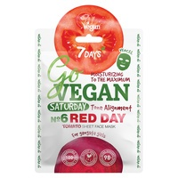 Chinese Sheet Face Mask Tone Alignment 7DAYS Go Vegan Red Day 25g