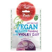 Chinese Fresh Sheet Face Mask 7DAYS Go Vegan Violet Day 25g