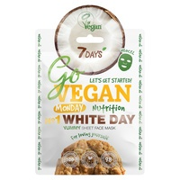 Chinese Sheet Face Mask Nutrition 7DAYS Go Vegan White Day 25g