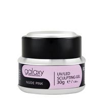 Gradivni kamuflažni gel za nadogradnju noktiju GALAXY LED/UV Nude Pink 30g