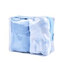 Set kapa za tuširanje i turban CALA Blue Flower 69227