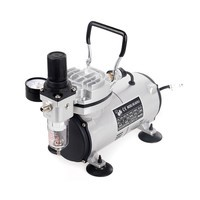Piston/Oil-Free Airbrush Compressor AS18-2 with One Exhaust