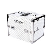 Makeup, Cosmetics and Tool Case GALAXY White Glitter 1286