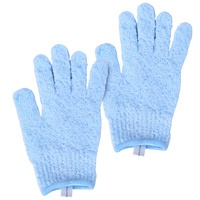 Exfoliating Bath Gloves CALA 69533 Baby Blue 2pcs