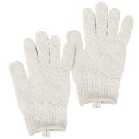 Exfoliating Bath Gloves CALA 69513 Cream 2pcs