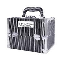 Kofer za šminku, kozmetiku i pribor GALAXY Crni gliter 1286