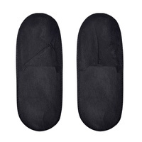 Non Woven Slippers Closed ROIAL Black 100pcs
