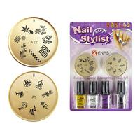 Set za Nail Art sa šablonima i lakovima za nokte TYPE7