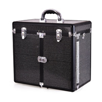 Kofer za šminku, kozmetiku i pribor GALAXY TC-3268R Crni gliter
