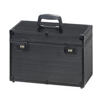 Kofer za frizerski pribor aluminijumski COMAIR Profi Crni 40x22x27cm