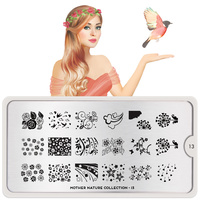 Stamping Nail Art Image Plate Mother MOYOU Nature 13