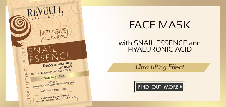 face mask with snail essence